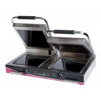 Wipe Clean Double Ceramic Smooth Contact - Panini Grill