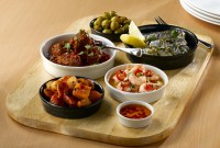Churchill Mediterranean Mezze Dishes with food