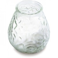 Low Boy Glass Candle CLEAR