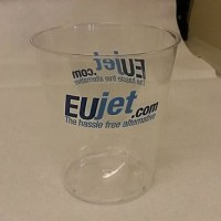 24cl Clear Plastic Facet Tumbler PRINTED