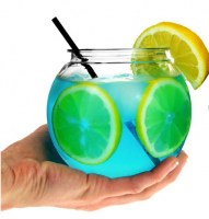 Individual Mini Cocktail Fish Bowl 20oz / 568ml with cocktail