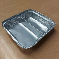 Foil Food Tray 2 Compartment - Street Food Tray