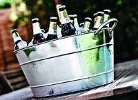 Galvanised Steel Bottle Tub 44 Litre with Ice & Bottles