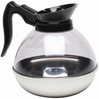 Clear Coffee Decanter with Stainless Steel Base
