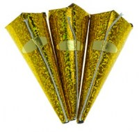 Gold Holographic Cone Party Poppers