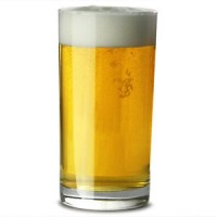 Hiball glass with beer