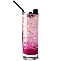 Side Hiball Glass with Heavy Base 12.75oz / 36cl with drink and ice