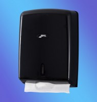 BLACK Paper Handtowel Dispenser White ABS Plastic
