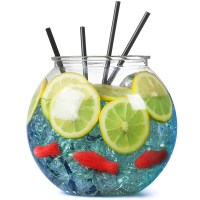 Plastic Cocktail Fish Bowl 105.5oz / 3ltr with Cocktail