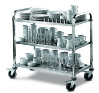 3 Tier Serving Trolley fully loaded