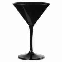 BLACK Reusable Polycarbonate Martini Glass 7oz / 200ml
