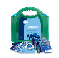 Catering First Aid Kit 1-10 Persons showing HSE approved contents