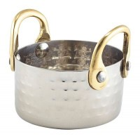 Mini Hammered Stainless Steel Casserole Dish