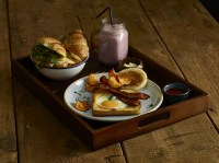 Butler Tray with Breakfast Service