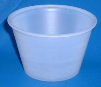 Souffle Plastic Portion Pot