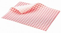 RED Gingham Print Greaseproof Paper