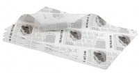 White Newspaper Print Greaseproof Paper Sheet 35 x 25cm