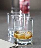 Side Old Fashioned Spirit Glasses with drinks and ice