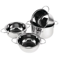 Stainless Steel Mussel Pot & Lid
