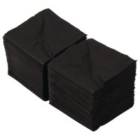 BLACK Swantex Paper Cocktail Napkins 25cm