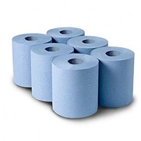 Blue Centrefeed Wiper Rolls