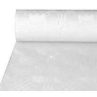 White Embossed Paper Banquet Roll