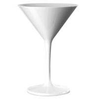 WHITE Polycarbonate Martini Glass 7oz / 200ml