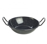 Black Enamel Dish With Handles