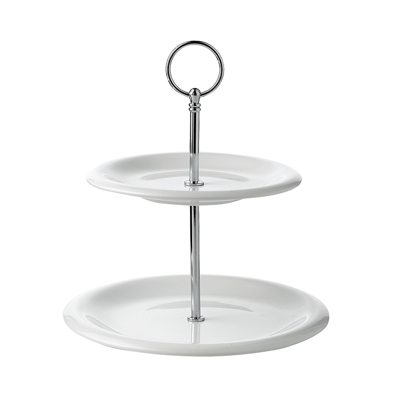 Tier Round Ceramic Cake Stand. Overall height: 24cm - 10 inches For ...