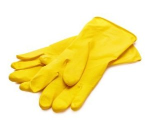 Yellow Rubber Gloves Wholesale Washing Up Gloves